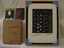 LOU REED Print (1 of 5) w/ Book (The Velvet Underground;Andy Warhol;David Bowie)