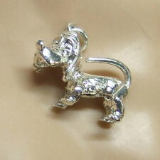 SILVER second hand looney dog charm