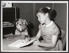 Father Knows Best TV Show LAUREN CHAPIN & PET DOG, DUCHESS  VINTAGE ORIG PHOTO