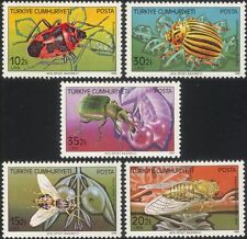 Turkey 1982 Harmful Insects/Pests/Beetles/Flies/Bugs/Nature 5v set (n44887)