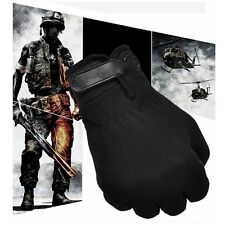 Military CS Tactical Airsoft Shooting Hunting Tactical Full Finger Gloves Black