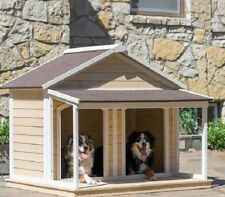 Dog Houses for Two Dogs Duplex Pet Puppy Shelter Cage Kennel Cottage Dog House