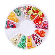 180pcs Assorted Fruit 3D Polymer Clay Fimo Slices For UV GEL Acrylic Nail Art