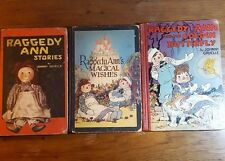 Raggedy Ann. 3 books, Stories/Magical Wishes/Golden Butterfly, Johnny Gruelle