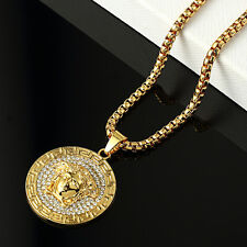 Halskette - Iced Out Bling Hip Hop Kette - MEDUSA-18K gold