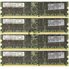 HP 8GB (4x2GB) PC3200 DDR-400 ECC Reg 184-pin DIMM Memory 373030-951 Samsun