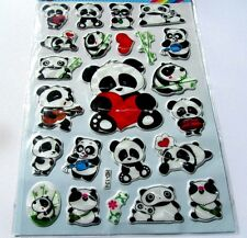 Large Panda Stickers -Nursery or for Kids birthday Party Goodies Bags