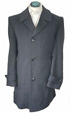 C&A MEN'S VITAGE WOOL RICH CHARCOAL OVERCOAT SIZE 44 (XL) *VGC*