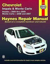 2006-2008 Haynes Chevrolet Impala & 2006-2007 Monte Carlo Repair Manual