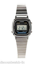 Casio LA670WD-1D Ladies Silver Classic Stainless Steel Digital Watch Alarm Timer