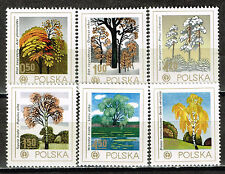 Poland Art  Famous Paintings Trees stamps set 1980 MNH