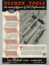 1941 PAPER AD Vlchek Tools Hammer Pliers Wrench Wrenches Chisel Punch Cleveland