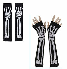 Tattoo Skeleton Gloves Rockabilly Pinup Punk Gothic Bones Horror Zombie Emo Dead