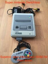 Console Super Nintendo FRA SNES SuperCIC switchless 50/60hz PAL/NTSC