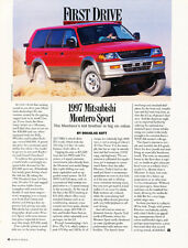 1997 Mitsubishi Montero Sport - Original Car Print Article J261