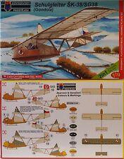 """Schulgleiter SG-38 """"Gondola"""", KP, 1:72, Plastik,Doppelpack,dt. Luftwaffe NEUHEIT"""