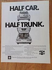 1972 Chevrolet Vega Ad Half Car Half Trunk