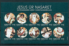 Faroe Islands Faroes 2016 MNH Jesus of Nazareth 10v MS Christmas Nativity Stamps