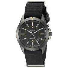 Seiko SKA705 Gent's Black Nylon Strap Black Dial Kinetic Watch