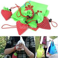 Reusable Eco Strawberry Storage Bag Handbag Foldable Shopping Bags Tote Cute New