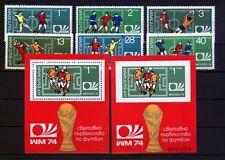 Bulgarien 2326/31+Block 47A+B Fußball postfrisch