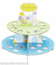 Kitchen Craft Hoppity Easter Egg / Cupcake 2 Tier Cardboard Reusable Cake Stand