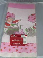 Vintage Strawberry Shortcake Paper Party Tablecloth, tablecover MIP