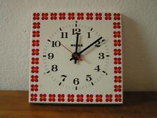 Belle Horloge Vintage  Kiplé  à fleurs    Des Années 70's