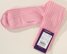Pink Ralph Lauren Purple Label 100% Cotton Trouser Dress Socks SZ L 10-13 A3F