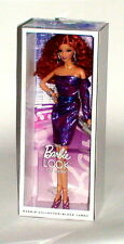 Barbie The Look City Shine Red Hair Purple Dress and Shoes Mattel Black Label