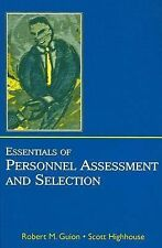 Essentials of Personnel Assessment and Selection, Guion, Robert M, Highhouse, Sc