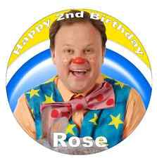 """Mr Tumble Personalised Cake Topper Edible Wafer Paper 7.5"""""""