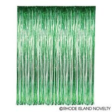 GREEN Metallic Fringe Curtain Party Foil Tinsel Room Decor 3' x 8' Wholesale