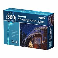 Christmas 360 Led White Snowing Icicle Bright Party Wedding Xmas Outdoor Lights