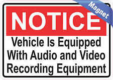 5x3.5 Notice Audio and Video Recording Magnet Decal Magnets Business Door Sign
