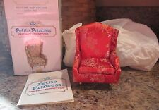Ideal Petite Princess Dollhouse Fantasy Furniture Salon Wing Chair 4410-7 Red