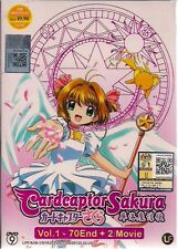 CARDCAPTOR SAKURA カードキャプターさくら VOL. 1-70 END + 2 MOVIES JAPANESE ANIME DVD