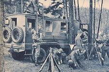 24821 AK Funker mobile Funkstelle Funkwagen 1940 PC radio station