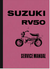 SUZUKI RV 50 rv50 MANUALE DI RIPARAZIONE REPAIR MANUAL SERVICE maintenance Assembly