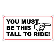 You Must Be This Tall To Ride Retro Vintage Style Metal Sign - 8 In X 12 In