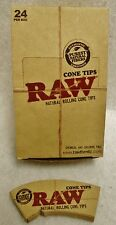 24 Packs RAW Natural Rolling Paper Cone Tips Fit 78mm,79mm,110mm and King Size