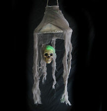 """Lighted Skull Lamp Scary Halloween Party Decoration Haunted House Prop 28"""""""
