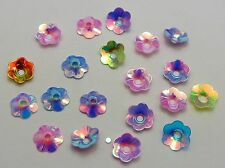 2000 Mixed Color Cup Flower loose sequins Paillettes 8mm sewing Wedding craft