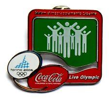 Pin Spilla Olimpiadi Torino 2006 Coca Cola – Slalom Di Incoraggiamento Gigante