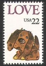 USA 1986 Puppy/Love/Greetings/Pets/Domestic Animals/Animation 1v (n39040)