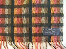 "Long Acrylic D&Y SCARF Autumn Color Plaid ""Softer Than Cashmere?"" 65 x 12"""