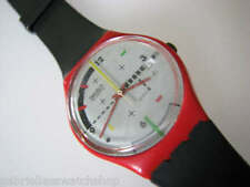 COMPU-TECH! 1984 Swatch with Original 7 HOLE Band & DATE-RARE!