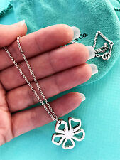 Tiffany & Co Flower Charm Sterling Silver Necklace