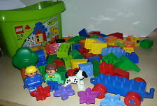 LEGO Duplo set 5416 - complete with 50+ extra pieces inc people, car base, tree