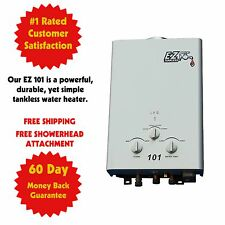 Tankless Hot Water Heater Propane Gas RV / On-Demand LPG Portable 1 Bath Camp